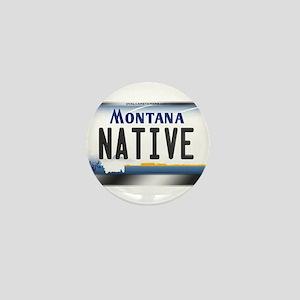 Montana License Plate - [NATIVE] Mini Button